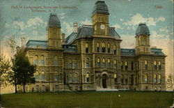 Syracuse University - Hall of Languages Postcard
