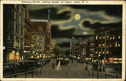 Genesee Street, Looking South at Night