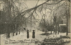 Ice Storm, Feb. 17, 1909, First Ave