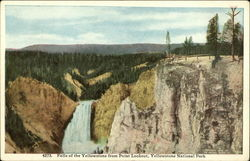 Falls of the Yellowstone from Point Lookout, Yellowstone National Park
