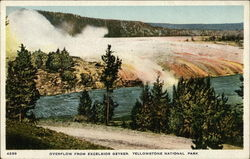 Overflow from Excelsior Geyser, Yellowstone National Park