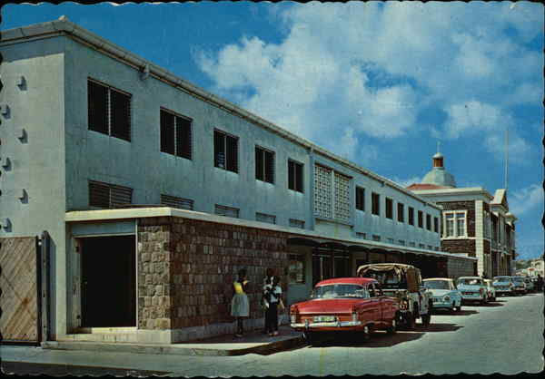 New Customs and Post Office Building at Basseterre St. Kitts West Indies