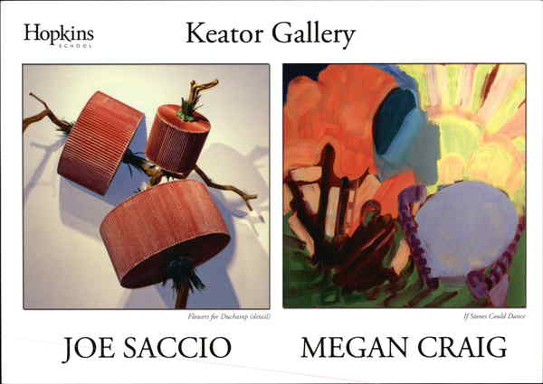 Hopkins School, Keator Gallery, Joe Saccio, Megan Craig
