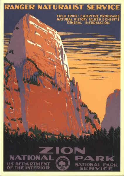 Zion National Park Ranger Naturalist Service U S Department Of The Interior