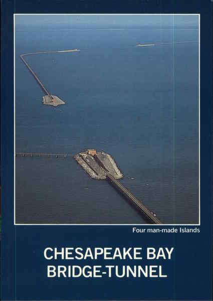 chesapeake bay bridge tunnel four man made islands virginia