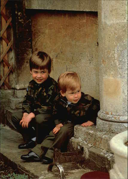 Prince William of Wales and Prince Henry of Wales Royalty