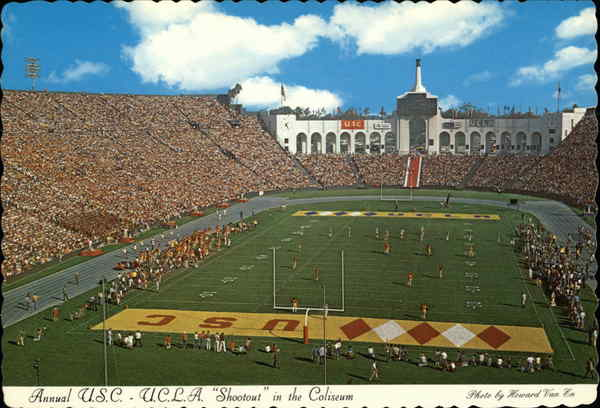 Annual USC UCLA Shootout in the Colisseum Los Angeles California