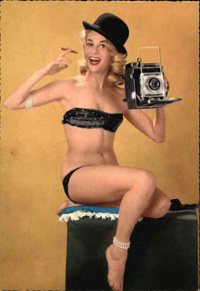 Pin-up Girl With Camera Swimsuits & Pinup