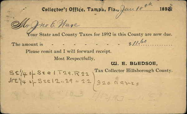 Collector's Office Tampa Florida Postal Cards