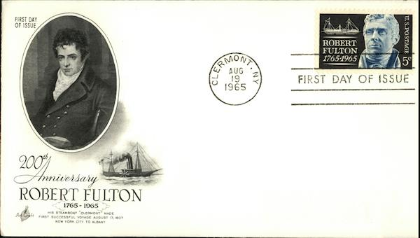 200th Anniversary Robert Fulton, 1765-1965, First Day of Issue