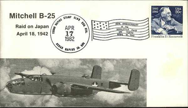 40th Anniversary of the Doolittle Raid on Tokyo April 18, 1942