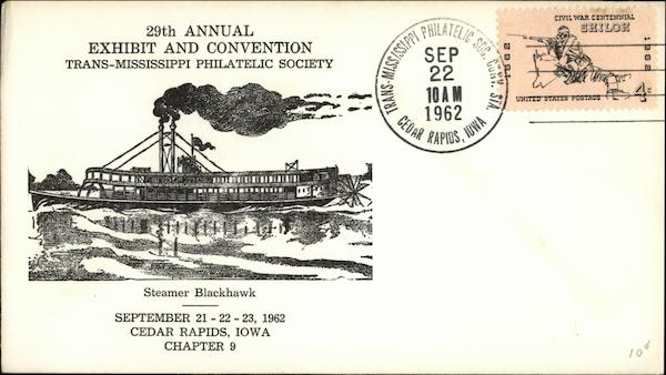 29th Annual Exhibit and Convention Trans-Mississippi Philatelic Society Steamer Blackhawk