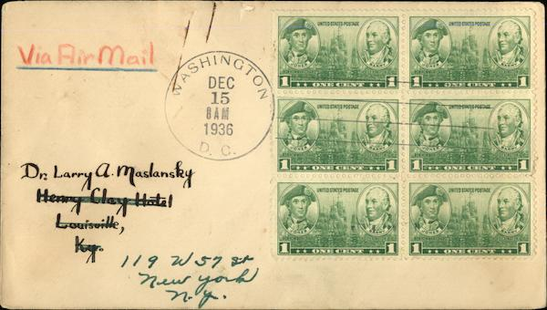 1 Cent Stamps First Day Covers