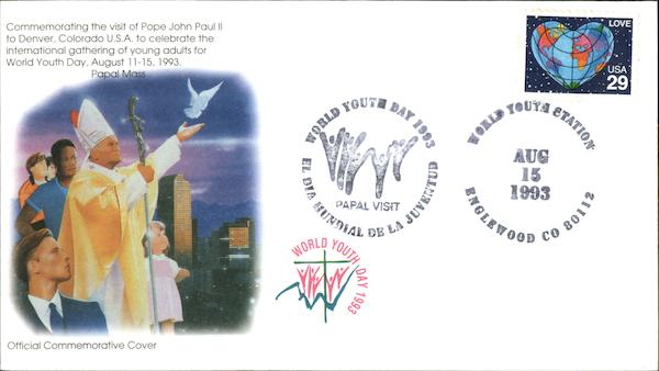 Commemorating the Visit of Pope John Paul II to Denver, Colorado U.S.A. to Celebrate the