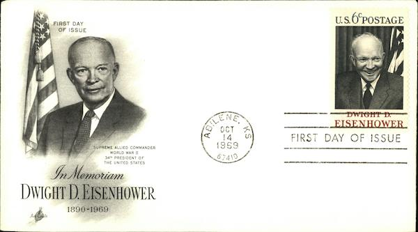 In Memoriam, Dwight D. Eisenhower, 1896-1969, First Day of Issue