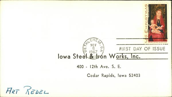 Iowa Steel & Iron Works, Inc Cedar Rapids First Day Covers