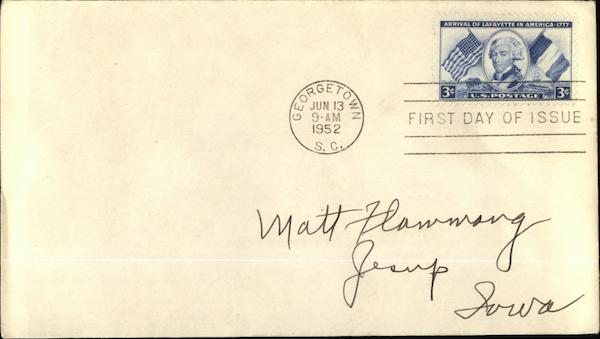 3 cent Stamp First Day of Issue First Day Covers