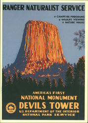 Ranger Naturalist Service, America's National Monument Devils Tower, Campfire Programs