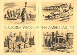 Tourism Year of the Americas '72, Domestic and International Air Mail, First Day of Issue