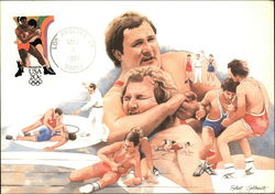 Olympic Wrestling Stamp
