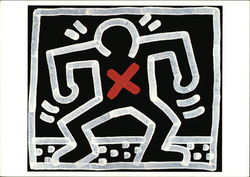 Keith Haring Untitled, 1985, Acrylice on Canvas, 4 x 4