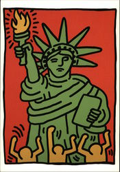 Statue of Liberty by Keith Haring 1986