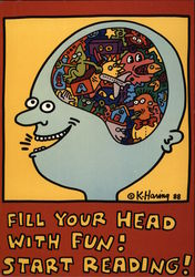 Fill Your Head With Fun! Start Reading! 1988 Poster