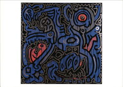 Keith Haring (American, 1958-1990) Untitled 1989, Acrylic on Canvas