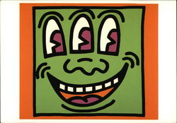 Keith Haring, Untitled (Three-Eyes Face), 1989 Screenprint, 20 x 25
