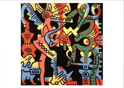 Keith Haring, Man, 1989, Acrylic on Canvas