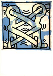 Keith Haring, 1985 Untitled, Acrylic and Oil on Canvas