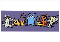Keith Haring (1959-1990) 16 April 1987 Billboard Design Humane Society, Florida