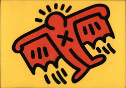 Keith Haring Untitled (Bat) 1989, Screenprint