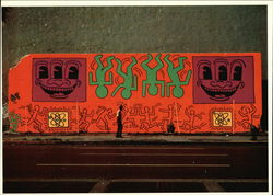 Keith Haring, Mural, Houston at Bowery, New York City, July 1982
