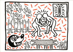 Keith Haring, Untitled, 1981, Acrylic and Ink on Paper