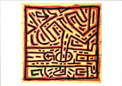 Keith Haring, Untitled, 1981, Vinyl Ink on Vinyl Tarp