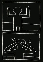 Keith Haring, Untitled, 1981, Chalk on Paper
