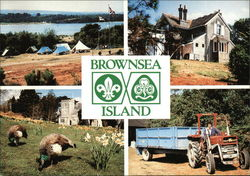 Brownsea Island, Poole Harbor, Dorset, The Camp Site, South Shore Lodge, The Tractor