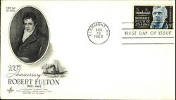 200th Anniversary Robert Fulton, 1765-1965, First Day of Issue First Day Cover