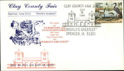 Clay County Fair, World's Greatest First Day Cover