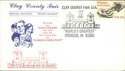 Clay County Fair World's Greatest First Day Cover