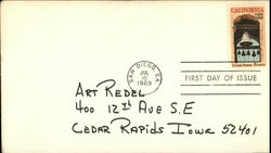 California 1769 1969 Stamp, First Day of Issue First Day Cover
