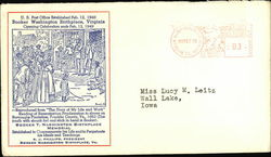 U.S. Post Office Established Feb. 12, 1948 Booker Washington Birthplace, Virginia First Day Cover