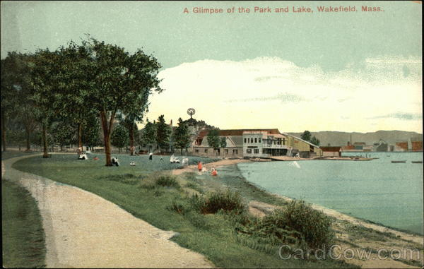 A Glimpse of the Park and Lake Wakefield Massachusetts