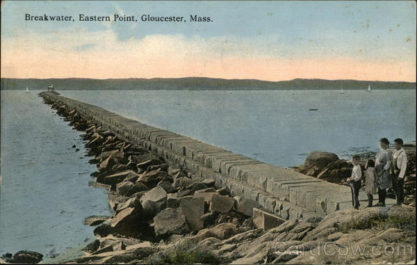 Breakwater, Eastern Point Gloucester Massachusetts