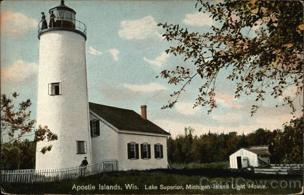 Lake Superior, Michigan Island Light House Apostle Islands Wisconsin