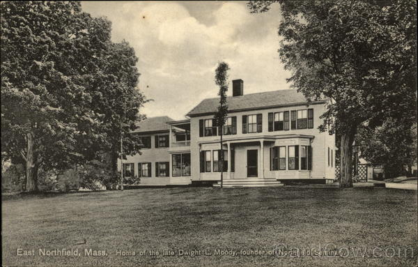 Home of the late Dwight L. Moody East Northfield Massachusetts