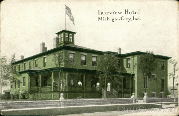 Street View of Fairview Hotel Michigan City Indiana