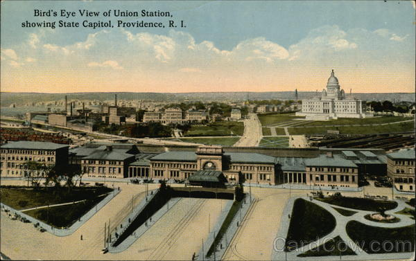Union Station and State Capitol Providence Rhode Island