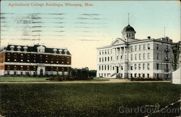 Agricultural College Buildings Winnipeg Canada Manitoba